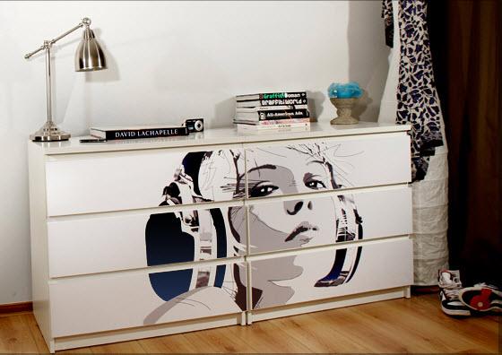 alte m bel umgestalten und versch nern. Black Bedroom Furniture Sets. Home Design Ideas