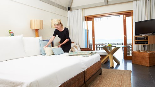 Wohnungsreinigung: Schlaf- und Wohnräume