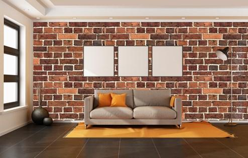 les murs latéraux dans des tons clairs