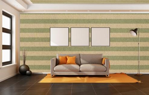 Les bandes horizontales sur les murs