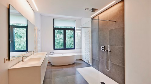 La salle de bains: un espace de détente