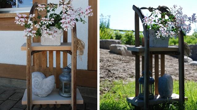 une luge en bois comme accessoire de d co. Black Bedroom Furniture Sets. Home Design Ideas