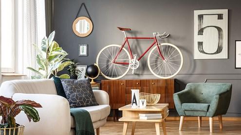 Velo in der Wohnung als Dekorations-Trend